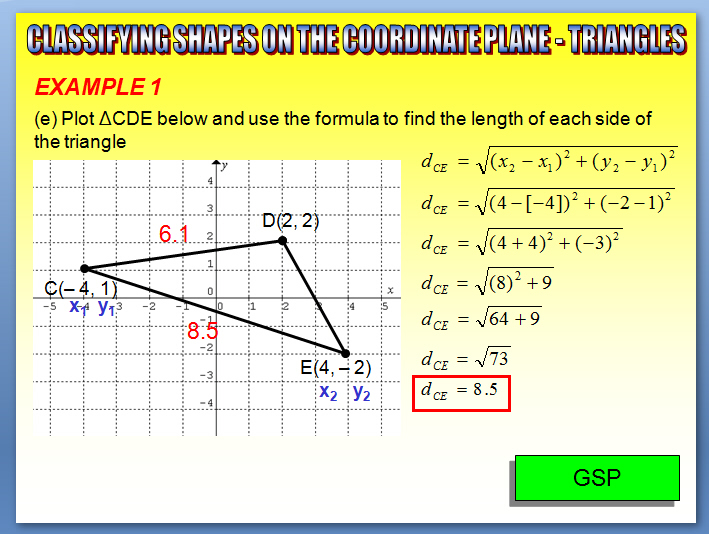 ... Part 1) - Classifying Shapes on the Coordinate Plane - Triangles