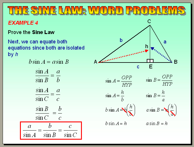 Chapter 64 The Sine Law Word Problems