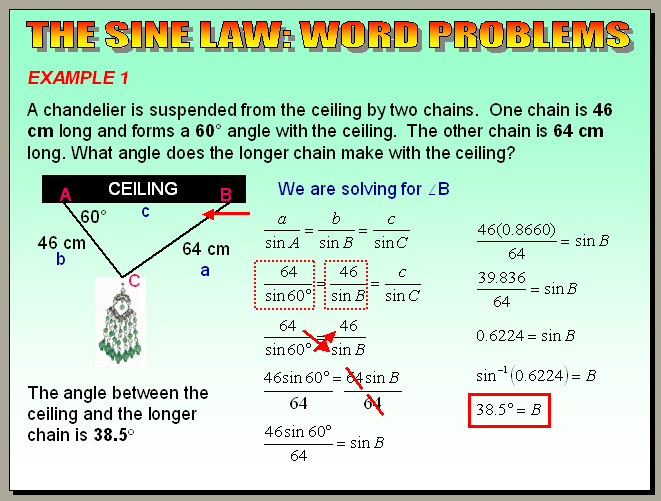 Chapter 64 The Sine Law Word Problems – Law of Sine and Cosine Worksheet